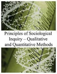 Principles of Sociological Inquiry – Qualitative and Quantitative Methods, 2012a