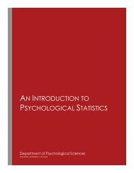 An Introduction to Psychological Statistics, 2018a