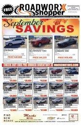 September 7, 2021 issue of the Roadworx Shopper