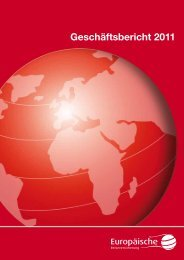 Geschäftsbericht 2011 - Europäische Reiseversicherung