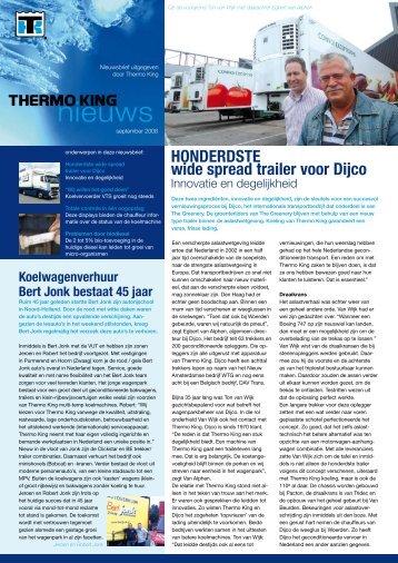Koelwagenverhuur Bert Jonk bestaat 45 jaar - Thermo King ...
