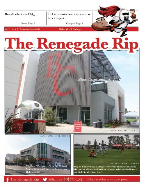 Renegade Rip Issue 1 Fall 2021 Sept. 8, 2021