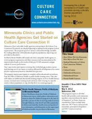 Culture Care Connection Spring 2012 - Stratis Health