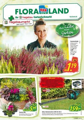 Hagebaumarkt & Floraland 09. - 15.09.2021