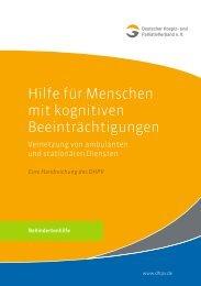 Hilfe für Menschen mit kognitiven Beeinträchtigungen // Vernetzung von ambulanten und stationären Diensten