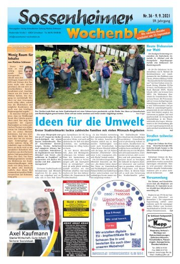 Sossenheimer Wochenblatt Ausgabe Kw 36-2021
