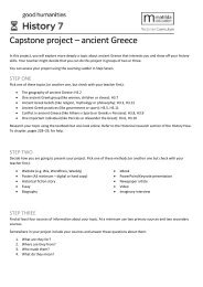 Capstone Project for H3 Good Humanities VIC 7