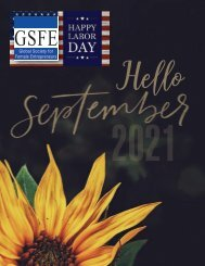 GSFE Newsletter-September 2021