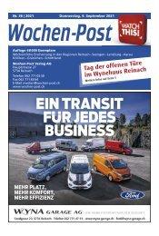 Wochen-Post   KW 36   9. September 2021