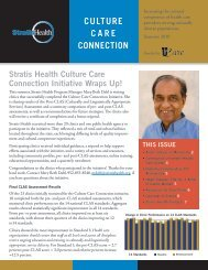 Culture Care ConneCtion - Stratis Health