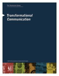 Transformational Communication - The Stratcomm Group of ...
