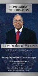 Billy Williams Memorial Program