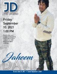 Jaheem David Memorial Program