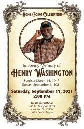Henry Washington Memorial Program
