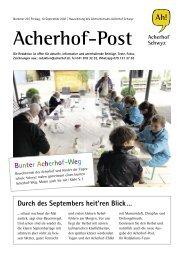 Acherhof-Post Nr. 29   10. September 2021