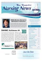 New Hampshire Nursing News - September 2021
