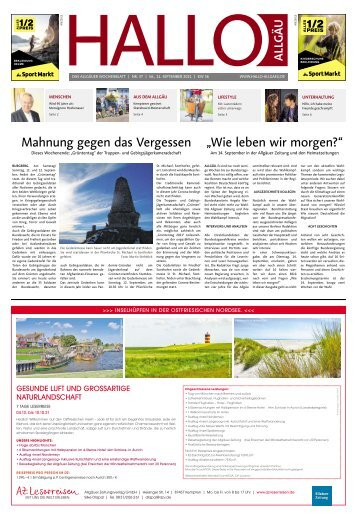 Hallo-Allgäu  vom Samstag, 11.September