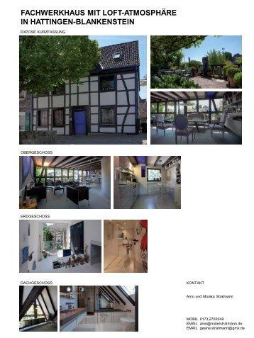 fachwerkhaus mit loft-atmosphäre in hattingen-blankenstein