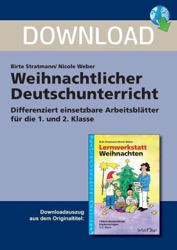 Birte Stratmann/ Nicole Weber Weihnachtlicher ... - Netzwerk Lernen