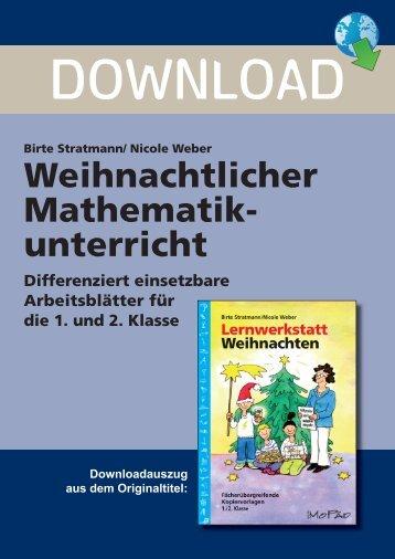 Birte Stratmann/ Nicole Weber Weihnachtlicher ... - Persen Verlag