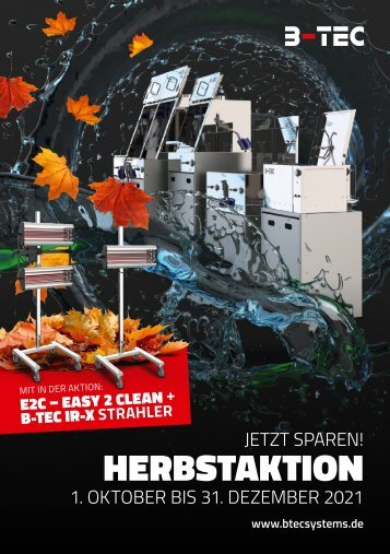 B-TEC Herbstaktion vom 1.10. – 31.12.2021