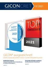 GICONcret II 2021 - Kundenmagazin der GICON®-Gruppe