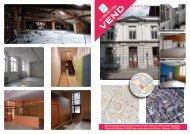 Bâtiment administratif daté de 1860 sur terrain de 438m², présentant plus de 650 m² de superficie de plancher à vendre