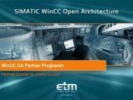 Wincc OA Partner Programm - ETM professional control Gmbh