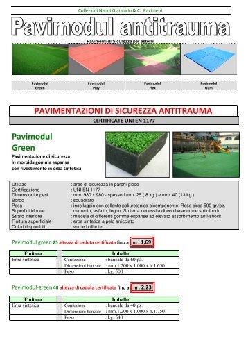 Scheda Antitrauma - Prato sintetico