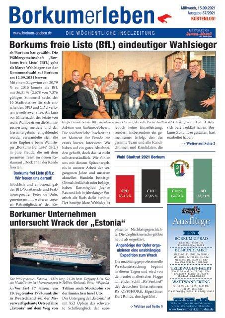 15.09.2021 / Borkumerleben - Die wöchentliche Inselzeitung