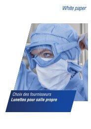 White paper: Choix des fournisseurs de lunettes pour salle propre