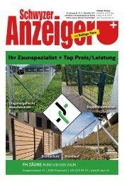 Schwyzer Anzeiger – Woche 37 – 19. September 2021