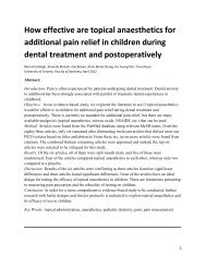 How effective are topical anesthetics for additional pain relief in ...