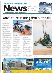 North Canterbury News: September 16, 2021