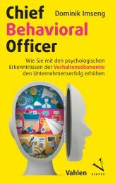 Leseprobe: Dominik Imseng: Chief Behavioral Officer