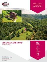 258 Lake Lane Road Marketing Flyer