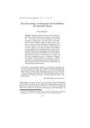 Die Entwicklung von Kategorien mit der Methode der ... - SSOAR
