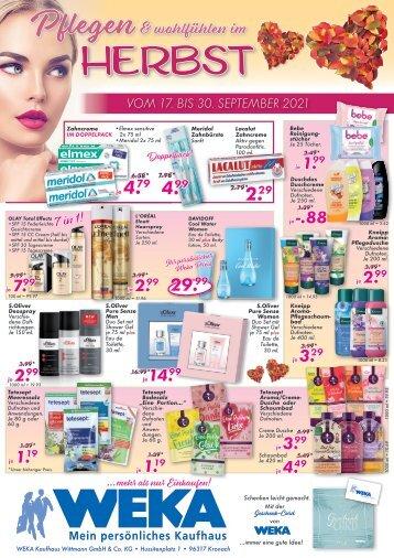 Kosmetikhandzettel September ab 17.9 in Kronach