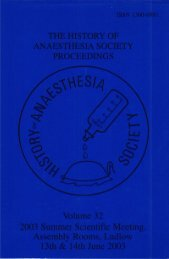 2003 S wr Seientitie .Meeting% - History of Anaesthesia Society