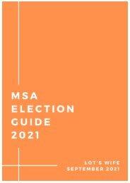 MSA Election Guide 2021