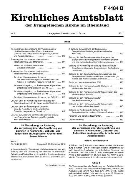 Kirchliches Amtsblatt