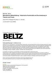 Betriebliche Weiterbildung - historische Kontinuität und ... - peDOCS