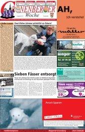 Sieben Fässer entsorgt - Cronenberger Woche