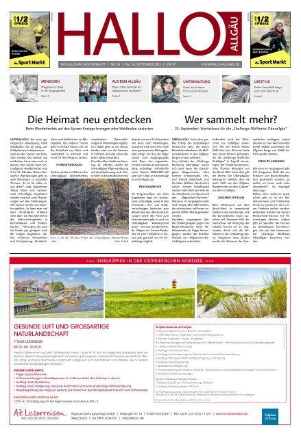 Hallo-Allgäu  vom Samstag, 18.September