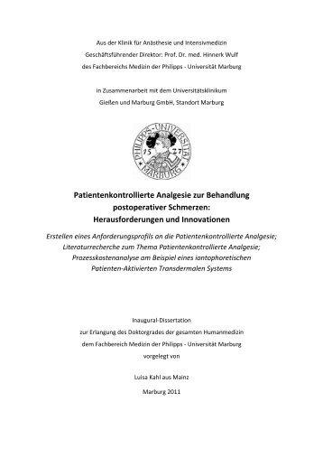 PCA-Herausforderungen und Innovationen-Doktorarbeit - Philipps ...