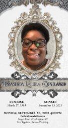Trashea Copeland Memorial Program