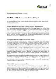 NRW: MVA- und EBS-Überkapazitäten fördern Müllimport - Bund für ...