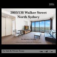 Sale Brochure -  2003/138 Walker St, North Sydney