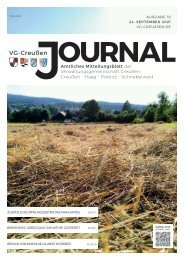 Creußen Jouranl - Ausgabe 24. September 2021