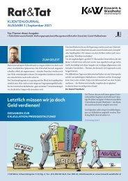 Rat & Tat - Klienten-Info / Ausgabe 3/2021